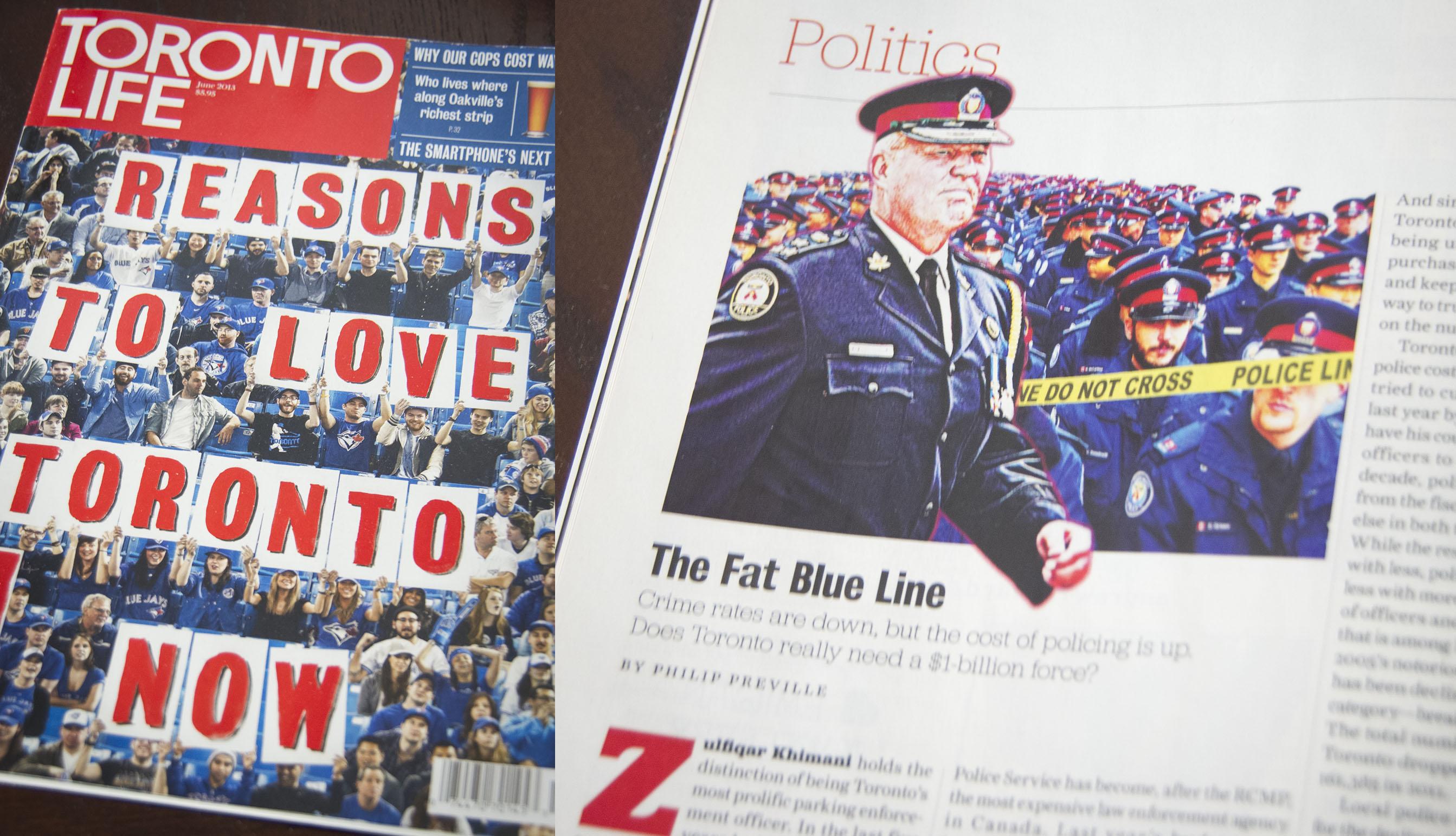 Toronto Police Chief Bill Blair Photo Published in Toronto Life Magazine